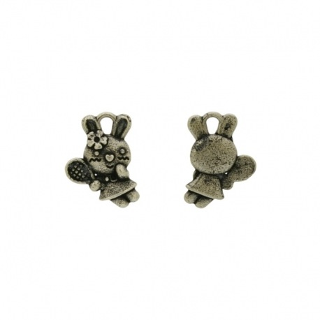 Rabbit with racket 16x12mm