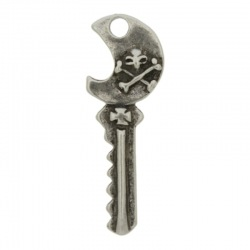 Skull key pendant 37x13mm