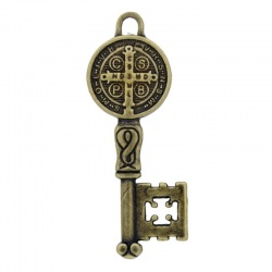 Religious key pendant 51x21mm