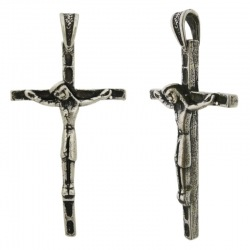Cross pendant 52x27mm with bail