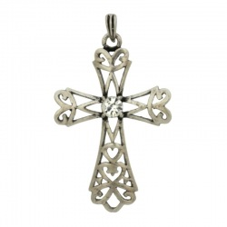 Cross pendant 47x27mm with bail