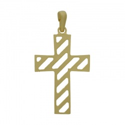 Cross pendant 46x25mm with bail