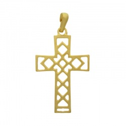 Cross pendant 48x25mm with bail