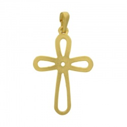 Cross pendant 47x26mm with bail