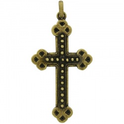 Cross pendant 77x38mm with bail
