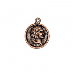 Coin pendant 21x16mm