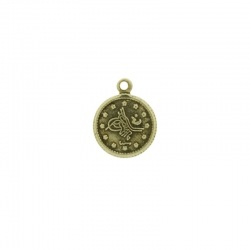 Coin pendant 15x12mm