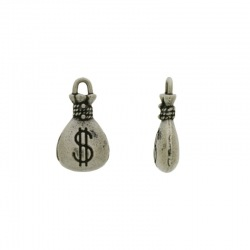 Money bag pendant 18x10mm