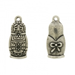 Matryoshka doll pendant 27x12mm