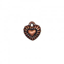 Heart pendant 13x12mm