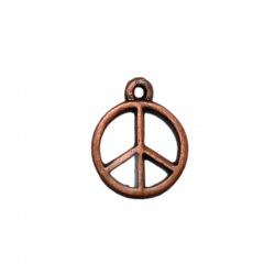 Peace pendant 19x16mm