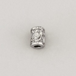 Metal bead 8x11mm. Hole Ø 3mm