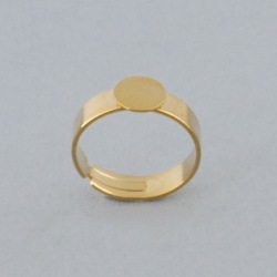 Adjustable ring with Ø 8mm flat base