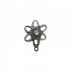 Flower ear stud Ø 11mm to PP19 strass with loop