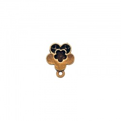 Flower ear stud Ø 12mm to 6 PP19 strass with loop
