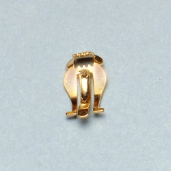 Toothed earclip 21x10mm for box ref.63561