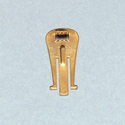 Toothed earclip 25x10mm for box ref.63561