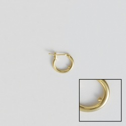 Creole earring Ø13mm with block
