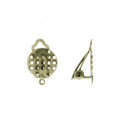 Ø 10mm drilled flat base ear clip with loop.