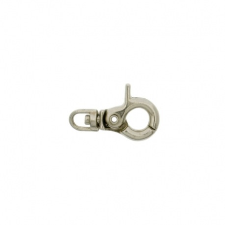 Nickel plated pewter lobster clasp 21mm