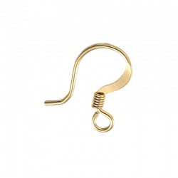 Flat fish hook earring 17x14mm.