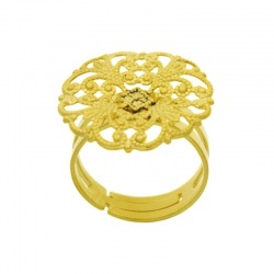 Adjustable ring with ornament Ø22,5mm