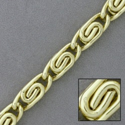 Gold plated aluminium chain width 9mm