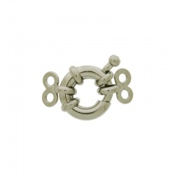 Spring ring clasp Ø 10mm + 2 ends with 2 strands