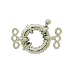 Spring ring clasp Ø 14mm + 2 ends with 3 strands