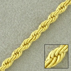 Rope brass chain width 6mm