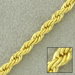 Rope brass chain width 7mm
