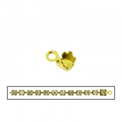 Brass end 7x4,5mm for strass PP18 chain