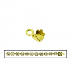 Brass end 8x4,5mm for strass PP24 chain