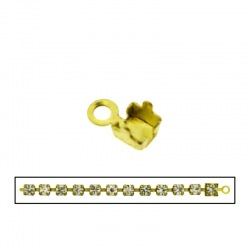 Brass end 10x5mm for strass PP32 chain