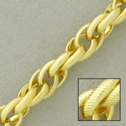 Rope brass chain width 10mm