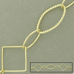 Large link brass chain width 22mm