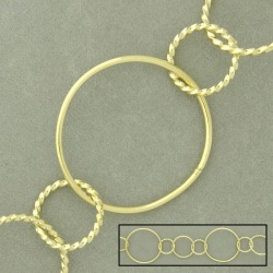 Large link brass chain width 28,5mm