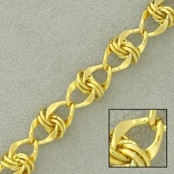 Large link brass chain width 9,1mm