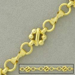 Large link brass chain width 11,6mm