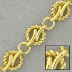 Large link brass chain width 14,2mm