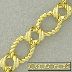 Large link brass chain width 15,4mm