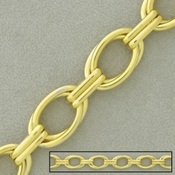 Large link brass chain width 14,3mm