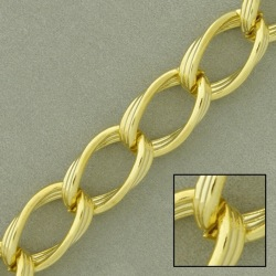 Large link brass chain width 12mm