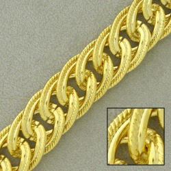 Large link brass chain width 14,4mm