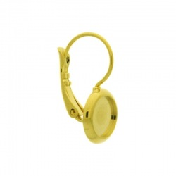 Earclip 18x14mm with Ø8mm flat base