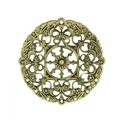 Round filigree metal component Ø 36mm
