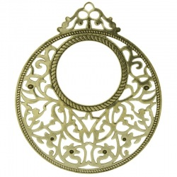Round filigree metal component 59x50mm