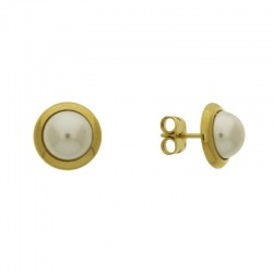 Earring with post with half pearl Ø8mm