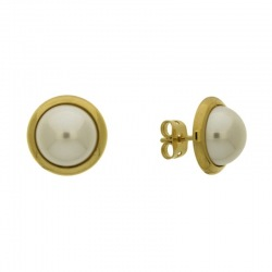 Earring with post with half pearl Ø10mm