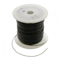 Black silicone beading cord Ø 1mm